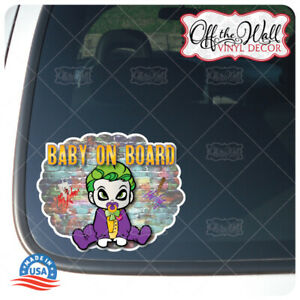 Baby-Joker-Character-034-Baby-on-Board-034-Awareness-Warning-Sign-Die-cut-Printed