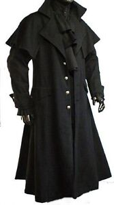 Mantel Kutscher claw Raven L Mittelalter Gothic Xl M Gehrock Xxl Vampir g1CZq