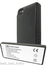 Mugen Power Extended Life Battery 3800mAh &Door For Blackberry Z10 4G BB10 Black