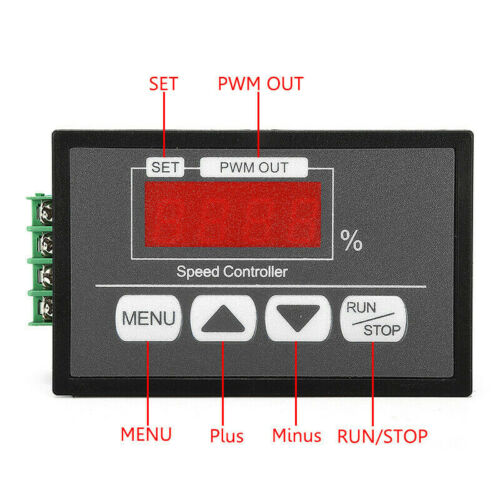 DC Motor Speed Governor 6-60V PWM Module 30A Digital Controller Switch G3