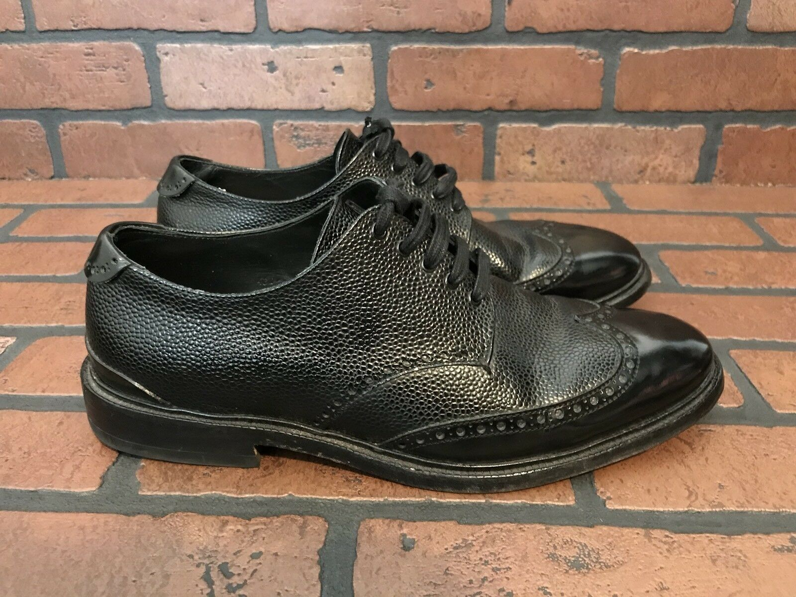 Rag And Bone Wingtip Oxford Black Leather Shoes Size 10 ()