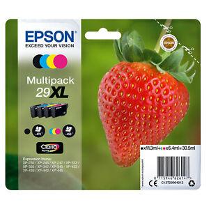 4-cartucce-ORIGINALI-per-stampante-EPSON-Expression-Home-XP-245