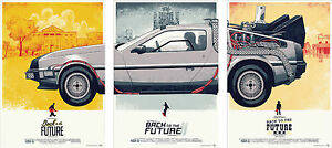 Back-to-the-Future-Delorean-Trilogy-Poster-Set-A4-A3-A2-A1-Sets-Available