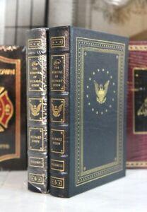 RICHARD-NIXON-MEMOIRS-Easton-Press-Library-Of-Presidents-SIGNED
