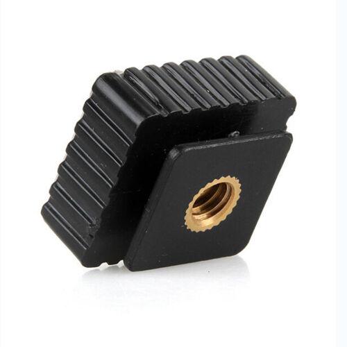 """Flash Schuh Mount Adapter auf 1//4 /""""Gewinde für Studio Light Stand Stativ  ^"""