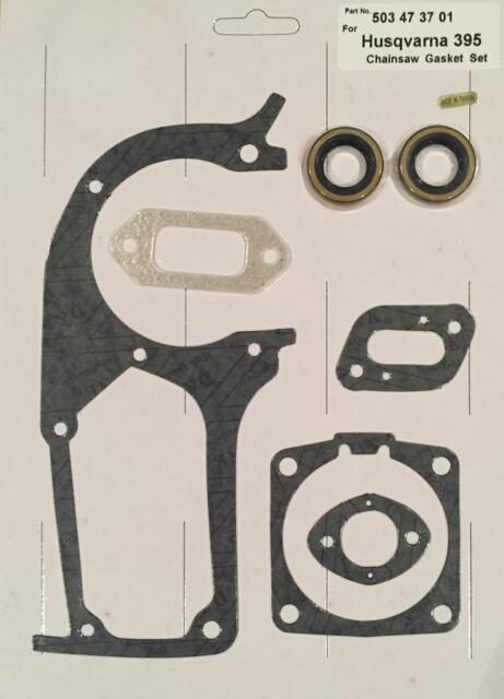 ENGINE GASKET KIT SET WITH SEALS /& BEARINGS HUSQVARNA 395XP 394,NEW 394XP 395
