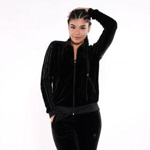 Originals Size Premium W 10 Adidas 6 Jacket Velvet 8 Uk New Black dCwxnax