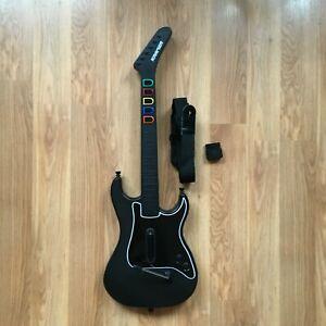 Playstation 2 Guitar Hero Kramer PS2 Guitar Controller 95119.805 w/ Dongle Strap
