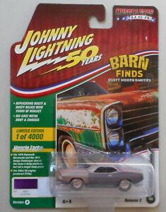 1970-Violet-Plymouth-Cuda-Barn-Find-JOHNNY-LIGHTNING-DIE-CAST-1-64-50th