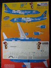 1/144 SKYLINE DECALS BOEING B 737-300 WESTERN PACIFIC THRIFTY CAR RENTAL
