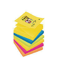 Pack of 6 Post-it Super Sticky Z-Note 76 x 76mm Rio Collection R330-6SS-RIO-EU