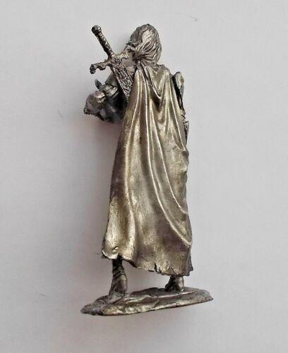 1//32 Fantasy warrior girl w// sword Tin Metal Soldier Figure 54mm Female handmade