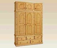 Pine Furniture Antique Sandringham Triple 5 Dwr With Free Top Box No Flat Packs