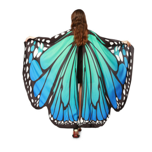 US Soft Fabric Butterfly Wings Shawl Fairy Ladies Nymph Pixie Costume Accessory