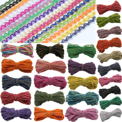 15 Yards 5MM Braid Lace Ribbon Centipede Sewing DIY Craft For Clothes Multiple