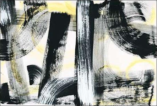 Sue Schlabach  LPs in 33 Light Keilrahmen-Bild Leinwand abstrakt Schallplatten