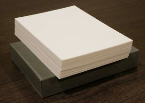 Brand New ATC Blanks 2.5 x 3.5 ins PACK of 50 x WHITE ACEO ARTIST TRADING CARD