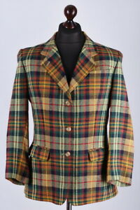Daks-Signature-Check-Classic-Wool-Blazer-Jacket-Size-L-UK14