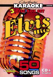 Chartbuster 5029 Elvis Hits- 3 Disc Set 50 Songs De Haute Qualité Et Peu CoûTeux