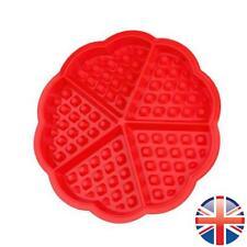 *UK Seller* Silicone Mini Round Waffles Pan Cake Baking Mould Mold Waffle Tray