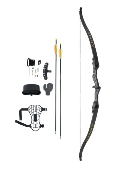 COMPLETE YOUTH RECURVE BOW KIT for Archery starter with arrow