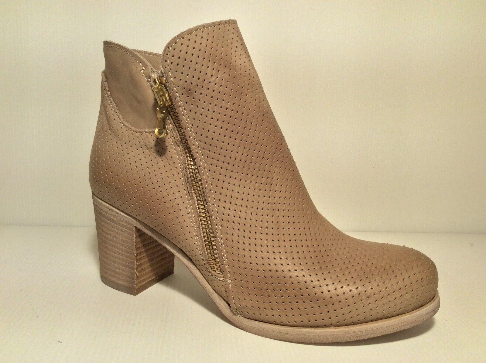 shoes STIVALETTI TRONCHETTI women ESTIVI PELLE TACCO PAOLA FIRENZE 902F  taupe