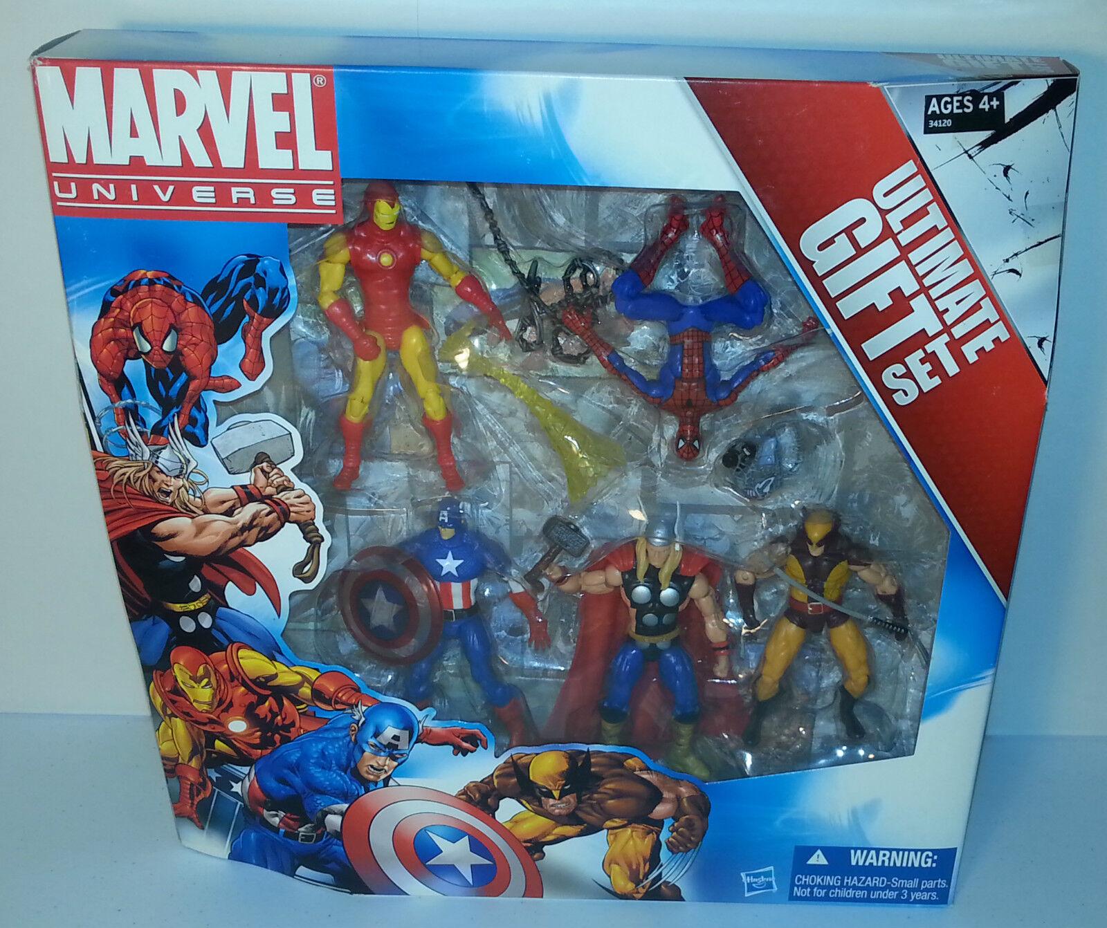 MARVEL UNIVERSE ULTIMATE GIFT 5-PACK BOX SET IRON SPIDER-MAN WOLVERINE THOR CAPT
