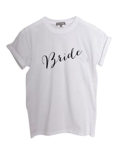/'Bride/' Slogan Boyfriend Roll Sleeve TShirt