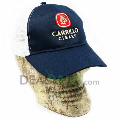 E.P CARRILLO CIGAR EMBROIDERED ADJUSTABLE CAP HAT BLUE