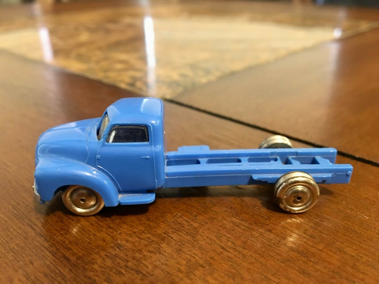 LEGO HO SCALE VINTAGE CLASSIC 1950'S BEDFORD Blau FLATBED TRUCK EXTREMELY RARE