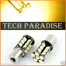 1x Ampoule 27 LED CanBus anti erreur Jaune Yellow Orange PY21W BAU15S RY10W RY5W