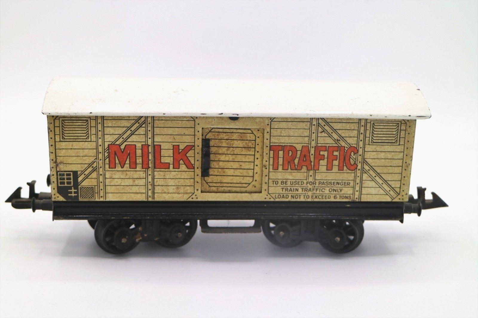 806H  Vintage  Bing O Gauge Double Bogie Milk Traffic Van