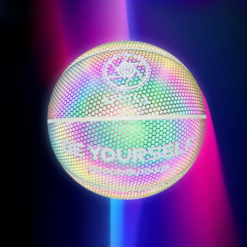 Holographic Basketball Glowing Reflective Basketball Luminous Basketball NO.7 UK