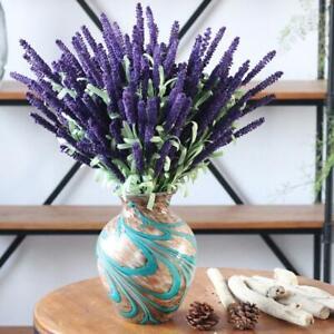 Artificial Lavender Bouquet Fake Silk Flowers Bunch Wedding Party Home Decor
