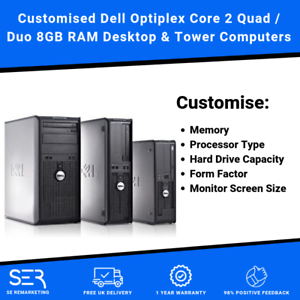 Customised-Dell-Optiplex-Core-2-Quad-Duo-8GB-RAM-Desktop-amp-Tower-PC-Computers