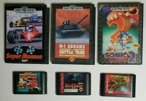 Sega-Genesis-6-Game-Lot-Street-Fighter-II-Mortal-Kombat-II-Sonic-2-Etc