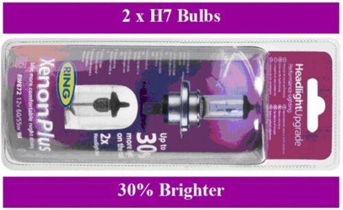 BU7 Ring Xenon Plus Headlight Bulb Upgrade 30/% brighter Includes 2 Bulbs
