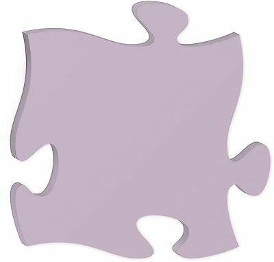 Personalized Laser Engraveable INTERLOCKING PUZZLE PIECE - Purple