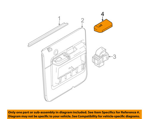 FORD OEM F-350 Super Duty Interior-Rear Door-Switch Bezel Trim Left 7C3Z14525NA
