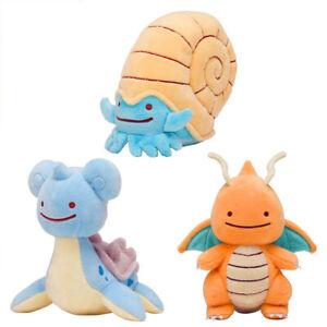 Pokemon-Center-Go-Pluesch-Lapras-Dragonite-Omanyte-Pikachu-Dito-Spielzeug-puppe