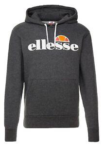 ellesse-Mens-Cotton-Overhead-Gottero-Hooded-Sweatshirt-Top-Dark-Grey-Hoodie