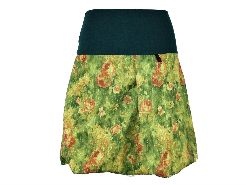Gonna palloncino verde verde verde rosa Rock da Donna Lagenlook Boho Stivali Rock 249208