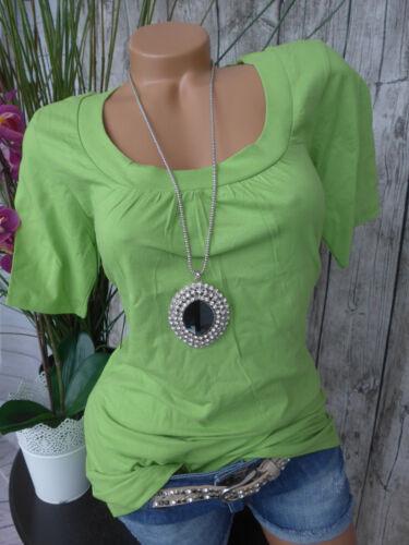 750 36 Kurzarm grün Ton Cheer Shirt Gr NEU