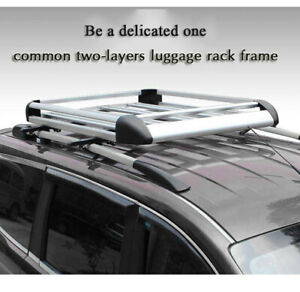 Details about Aluminium Alloy Car SUV 4WD 4x4 Roof Rack Basket Cargo  Luggage Carrier Box Bar