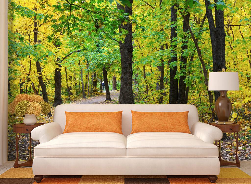 3D Grün Woods Path 84 Wallpaper Mural Paper Wall Print Wallpaper Murals UK