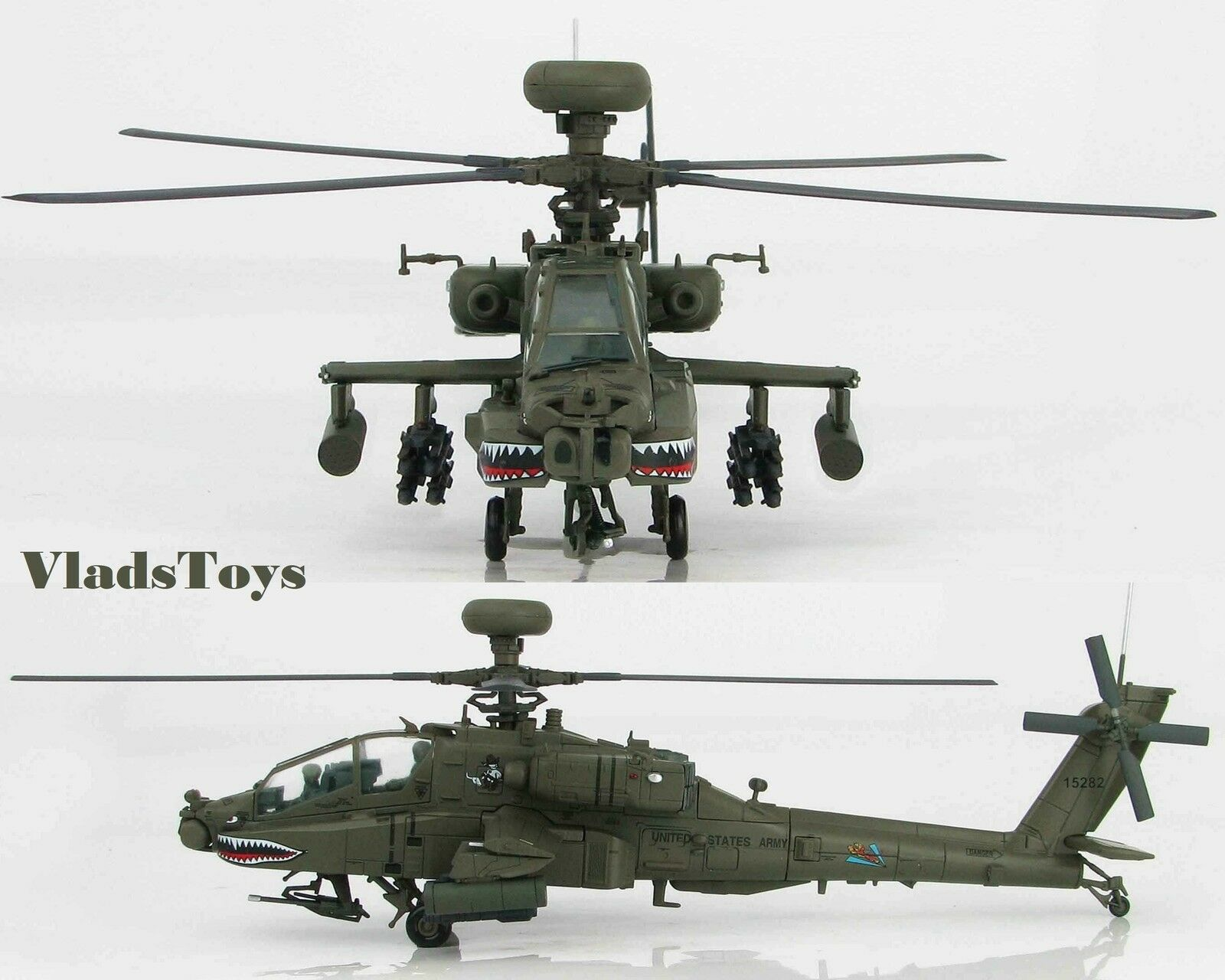Hobby Master 1:72 Ah - Ah-64d Longbow Apache Esercito Volante Tigers Fort Knox