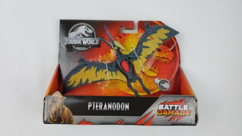 "Jurassic World Dino Rivaux PTERANODON Figure 9/"" Bataille Endommagé NEW IN BOX"