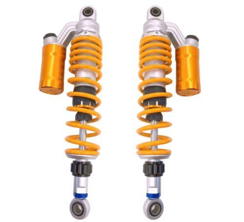 "1 Pair 370mm 14.5/"" Motorcycle ATV Shock Absorber Rear Suspension Round Damper"