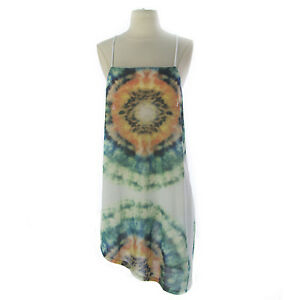 TOPSHOP-Women-039-s-Multi-Color-Printed-Asymmetrical-Dress-04P41Y-US-Size-8-NEW
