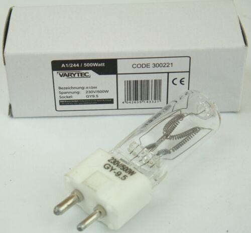 500W 230V A1 244 Lampe Sockel Gy-9,5 Gy 9,5 von VARYTEC für z.B Raylight